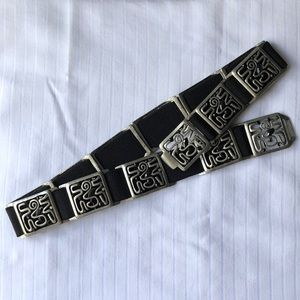 Chico's Vintage Metal Stretchy Belt